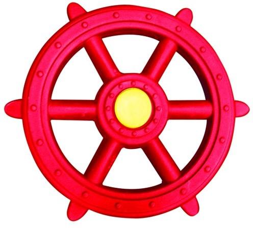 Piratenstuur kunststof, rood/geel (W12607)
