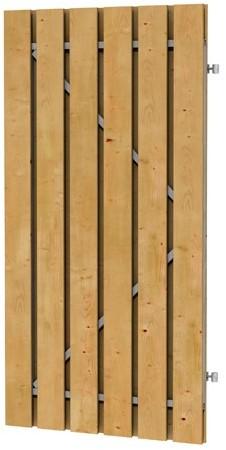 Grenen geschaafde plankendeur op verstelbaar stalen frame 90x180 cm, recht, groen geïmpregneerd (W07575)
