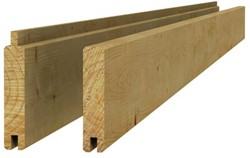 Blokhutplank 2,6x14,5x400cm groen geïmpr.