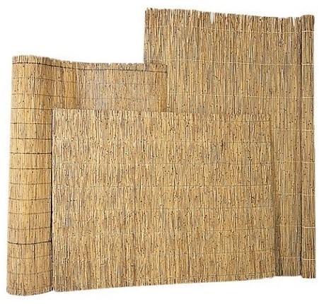 Rietmat 1,5/2cm dik met perlondraad gebonden per 5 halmen 150x200cm (W17025)