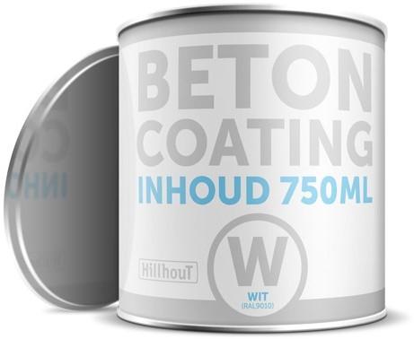 Coating betonverf 750 ml, wit RAL9010 (13250)