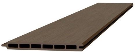 Composiet schermplank 2,1x19,5x180cm bruin (W23560)