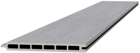 Composiet schermplank 2,1x19,5x180cm lichtgrijs (W23565)