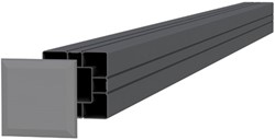 Aluminium paal 8,4x8,4x185cm antraciet