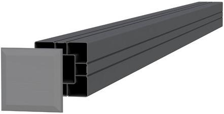 Aluminium paal 8,4x8,4x185cm antraciet (23585)