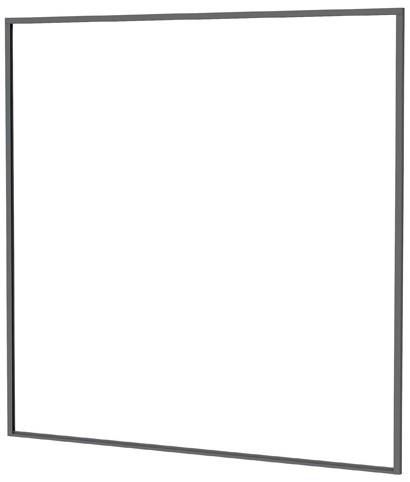 Aluminium profielset t.b.v. composiet scherm 181,5x181,5cm antraciet (W23590)