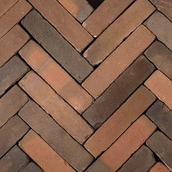 Antic Bricks waalformaat 5x20x6,5cm Klassiekrood rood/zwart