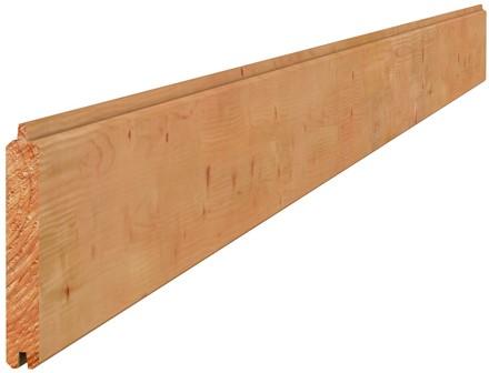 Douglas geschaafd dakbeschot 1,6x11,6x400cm groen geïmpr. (W44270)