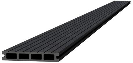 Composiet dekdeel 2,3x14,5x300cm antraciet (W23450)