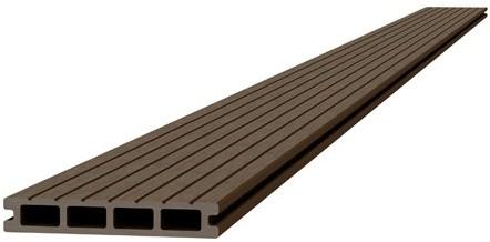Composiet dekdeel 2,3x14,5x300cm bruin (W23455)
