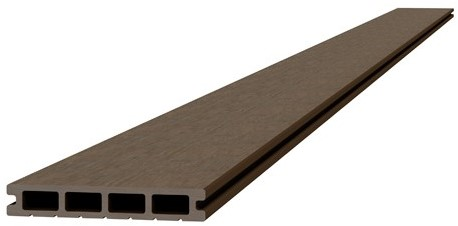 Composiet dekdeel 2,3x14,5x420cm bruin (W23470)