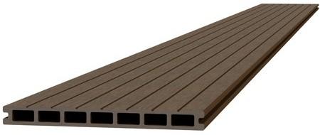 Composiet dekdeel 2,3x25x300cm bruin (W23485)