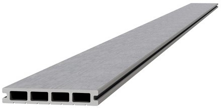 Composiet dekdeel 2,3x14,5x420cm lichtgrijs (W23475)