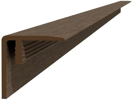 Composiet hoekprofiel / plint 4x4x300cm bruin (W23520)