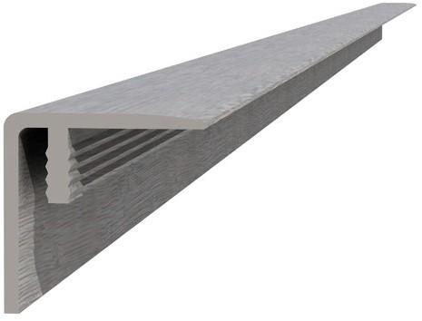 Composiet hoekprofiel / plint 4x4x300cm lichtgrijs (W23525)