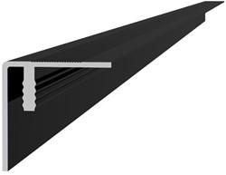 Aluminium hoekprofiel / plint 4x4x300cm antraciet