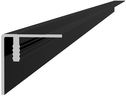 Aluminium hoekprofiel / plint 4x4x300cm antraciet (23530)