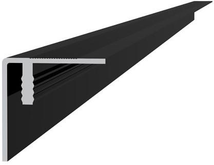 Aluminium hoekprofiel / plint 4x4x300cm antraciet (W23530)