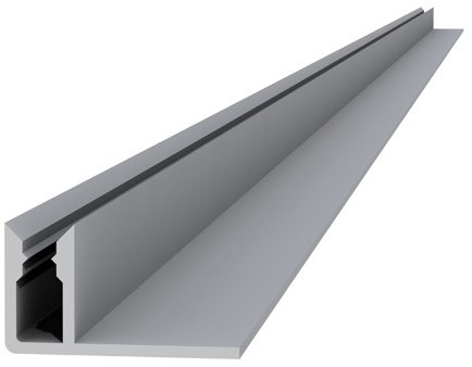 Aluminium onderprofiel 4,0x2,2x300cm (W23540)