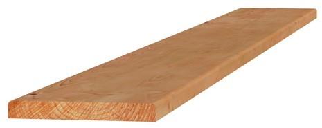 Douglas plank 1 z. geschaafd, 1 z. fijnbezaagd 2,8x19,5x300cm groen geïmpr. (W45840)