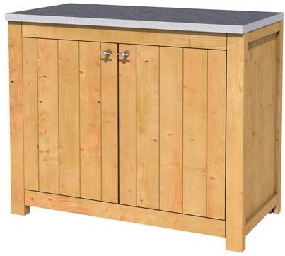 Hillhout douglas dubbele buitenkeuken 90x109x56cm met schap en deuren. (1006139)