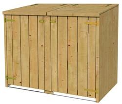 Dubbele containerkast 115/127x150x91cm (HxBxD)