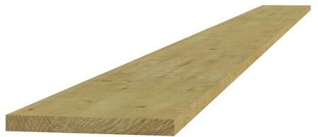 Midden-Europees vuren fijnbezaagde plank 1,9x20,0x180cm (W06421)