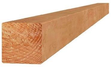 Douglas geschaafde paal 6,5x6,5x400cm onbehandeld (1009226)