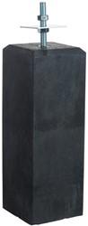 Betonpoer recht  15x15/18x18x50cm met verstelbare plaat, antraciet