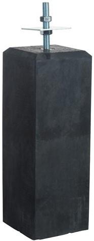 Betonpoer recht 18x18x50cm met verstelbare plaat antraciet (1001204)