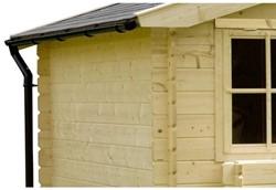 Dakgoot tb.v. Garage Yukon/ Kapschuur Zambezi dubbele deur
