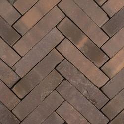 Hollandse streken waalformaat 5x20x6cm Peel paars/bruin