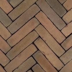 Antic Bricks waalformaat 5x20x6,5cm Bordeauxrood rood/paars