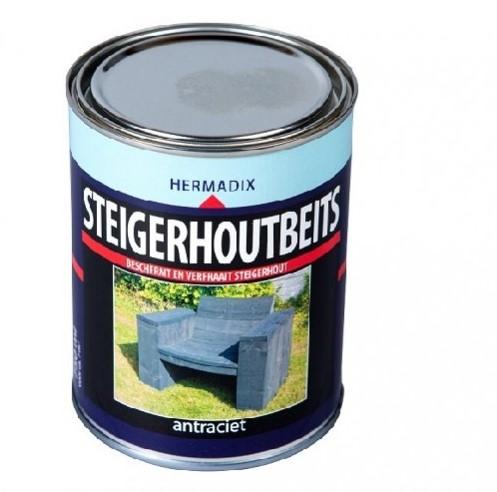 Steigerhoutbeits 750 ml antraciet