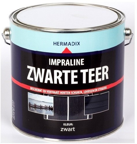 Impraline beits 2500 ml zwarte teer
