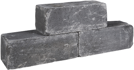 Palinoblock getrommeld 60x15x15cm antraciet