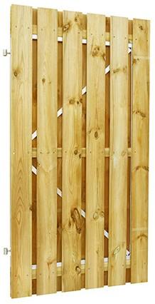 Grenen geschaafde plankendeur op verstelbaar stalen frame 150x190 cm, recht, groen geïmpregneerd (W07685)