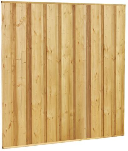 Beto-dichtplankscherm van fijnbezaagde vuren planken, 180x180cm (W07920)