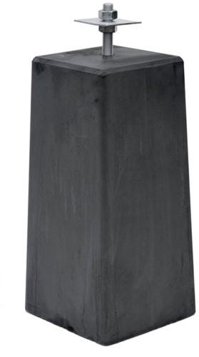 Betonpoer taps XL 22,5x22,5x50cm incl huls rond 20mm antraciet (1010645)