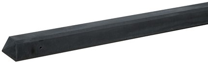 Betonpaal glad met diamantkop 10x10x280cm antraciet ongecoat, T-paal (W13247)