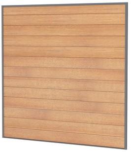 Hardhouten rabatplanken t.b.v. scherm 181,5x181,5cm in profiel 23590 (W14362)