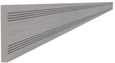 Composiet afdeklat 0,8x6,3x300cm grijs (W23553)
