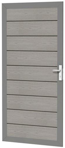 Composiet deur houtmotief 90x183cm grijs (W23690)