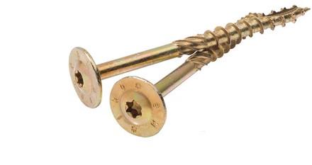 Gebintschroef 8x200mm T4, geelverzinkt inclusief bit, doos a 25 st (W19033)