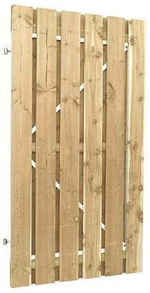 Jumbodeur v.z.v. uitgefreesd slotgat geschaafd vuren 15mm op verstelbaar stalen frame 100x200cm recht verticaal (W306803)