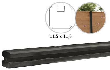 Betowood betonpaal t.b.v. schutting 11,5x11,5x277, antraciet eindpaal, gecoat (W32115)