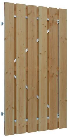 Douglas geschaafde plankendeur op verstelbaar stalen frame, 16mm 100x190cm groen geïmpr. (W42056)