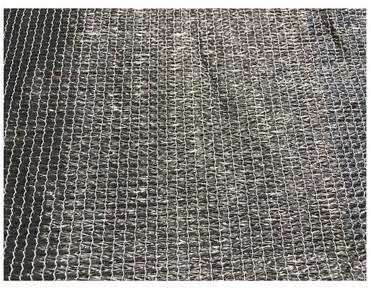 Harmonicadoek HDPE 290x500cm incl bevestigingsmaterialen, antraciet (W27125)