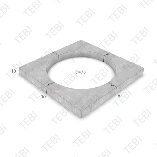 Boomkranselement 45x10x45cm grijs gesloten