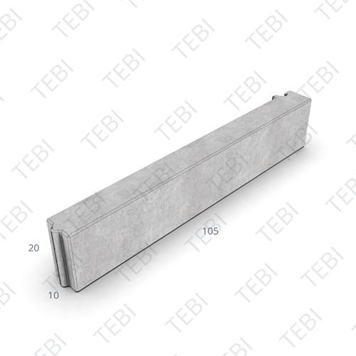 Boomrandband 10x20x105,5cm grijs